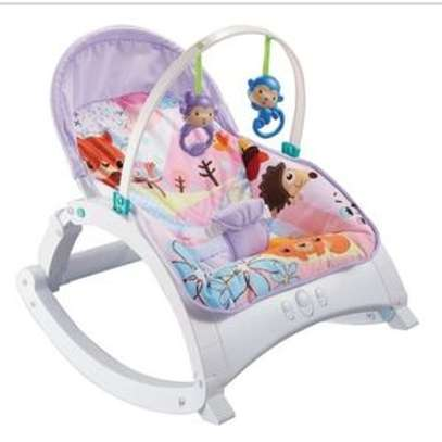 Ibaby Baby Comfort Bouncer Rocker With soothing music and toys-multicolor image 3