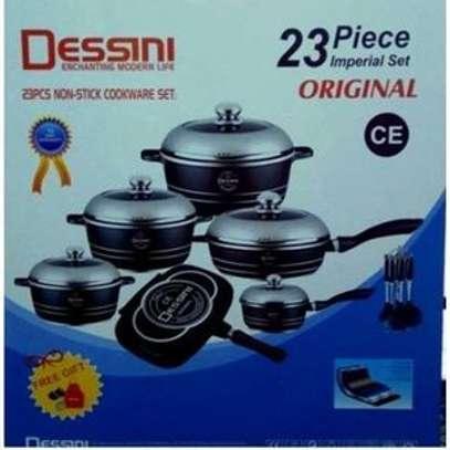 Dessini Dessini Durable Italian- 23 piece Non-Stick DieCast Cooking Pots - Black image 1