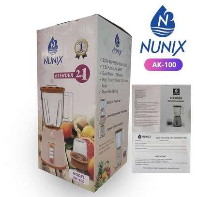 Nunix AK-100 2in1 Blender with Grinding Machine image 2