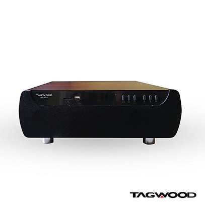 Tagwood Mp-8512 Home Cinema 2.1 Home Mini Theater Sound System Bluetooth Speaker Subwoofer Connects both to the DVD Player and a TV Box at the same time. Fully Wooden with an explosion bass