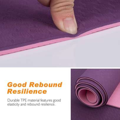 Double sided yoga/exercise mat image 2