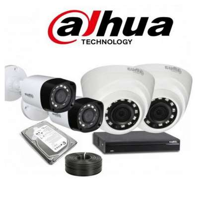 Four 4 Dahua Complete CCTV Cameras System Package Sale image 1