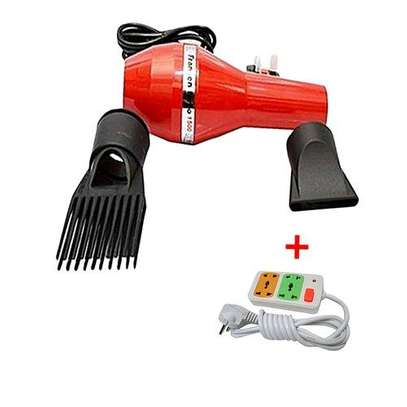 Fransen Blow Dryer with FREE 4-way Socket Extension Cable - Red image 1
