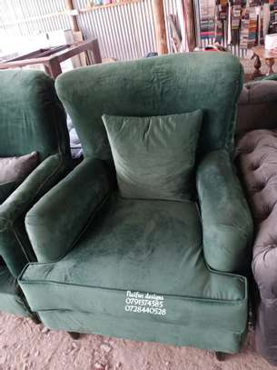 One seater sofa/green accent chairs image 1