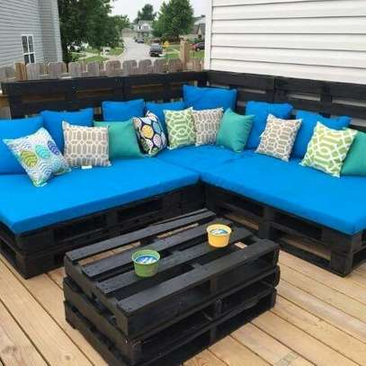 Handsome Modern Quality 6 Seater L-Shaped Pallet Sofa image 1