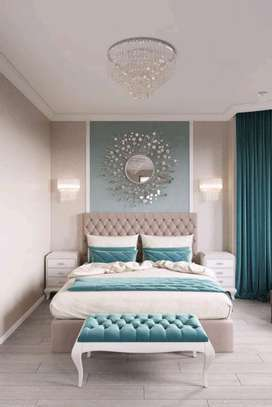 Latest bed designs/ benches/Chester beds/6*6 Kingsize bed image 1