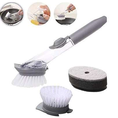 2 in 1 Scrubber Brush with Soap Slot image 3