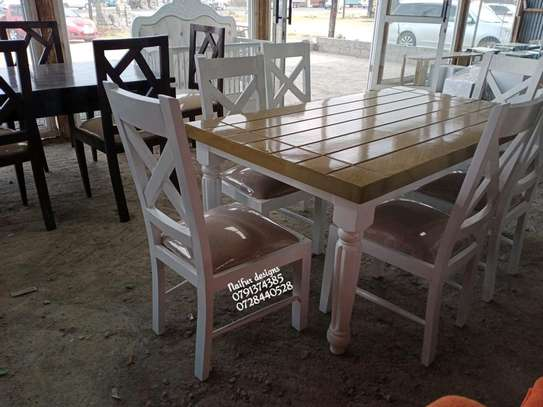 Modern six seater dining table set for sale in Nairobi Kenya image 2
