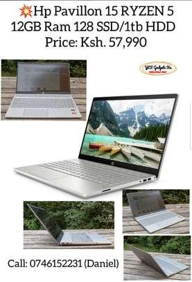 P Pavilion 15 Laptop AMD Ryzen 5 2500U 2GHz 12GB RAM 1TB HDD + 128 SSD 15.6 Inch Screen image 1