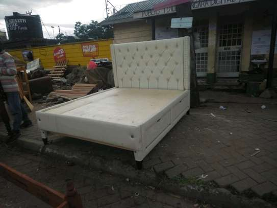 Beautiful Modern Quality Ready Made 5by6 Tufted Bed image 1