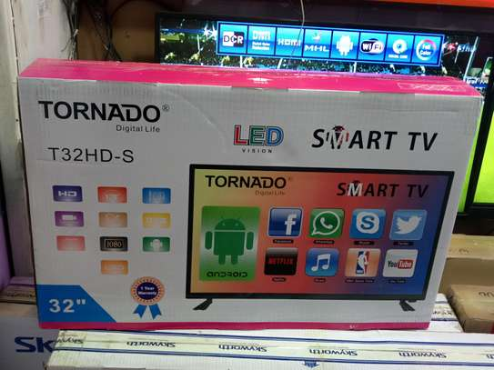 Tornado Smart Android 32 Inches Tv With Google Playstore Netflix YouTube Wifi image 1