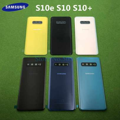 Battery Cover Replacement Back Door Housing Case For Samsung Galaxy S10 Plus S10e S10 image 1