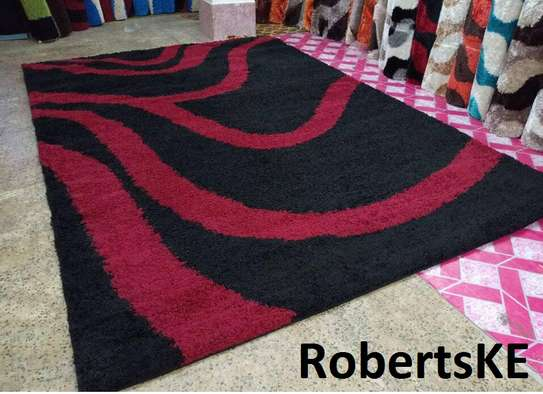 marron and black sofa carpet image 1
