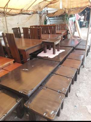 Solid Mahogany Coffee tables and stools image 2