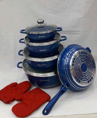 Dessini 10 piece granite cookware. image 1