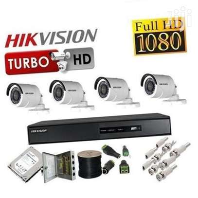 Full HD 1080p: 5 CCTV Camera Kit (with Night Vision + 1TB Storage + 100m Cable) image 2