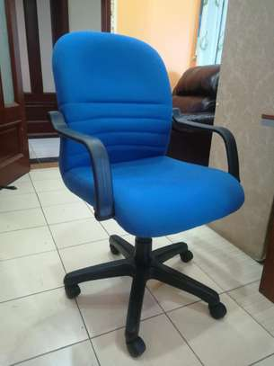 Blue Athena Mid back chairs image 1