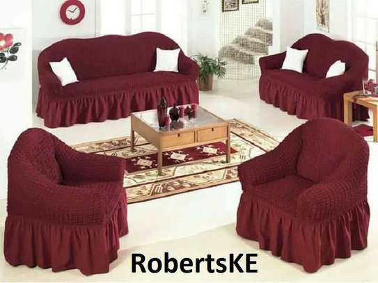 maroon sofa cover 7seater image 1