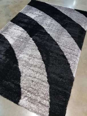 rugs striped grey soft carpets image 1