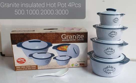 4pcs Granite Insulated Hot Pots image 3