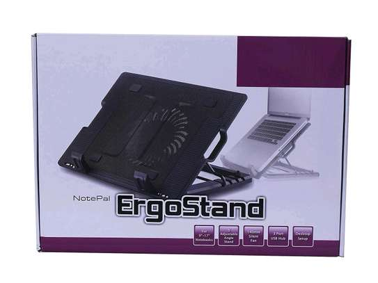 Ergo stand and cooler fan for laptops image 1