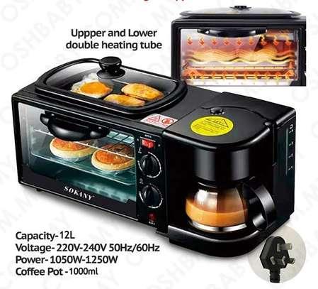 3 in 1 Sokany Breakfast maker grill oven coffee maker image 1