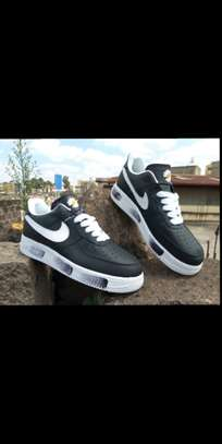 Men airforce black with nike prints