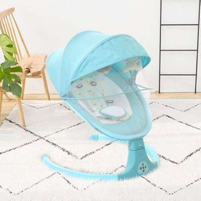 Electric baby swing cot swing baby cradle automatic baby cradle swing crib image 1