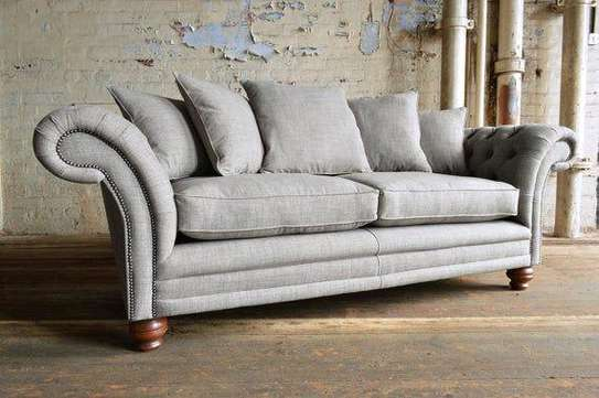 Grey three seater sofas for sale in Nairobi Kenya/Latest sofa set designs for sale in Nairobi Kenya image 1