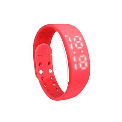 3D W2 Smart Bracelet Pedometer Sleep Monitor Calories Burned Fitness Watches(Red)