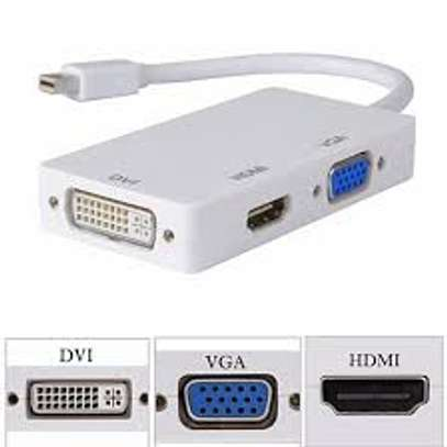 3 in 1 Mini DisplayPort to HDMI DVI VGA Cable Adapter image 1