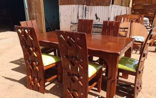 6 Seater Solid Mahogany Wood Sets image 3