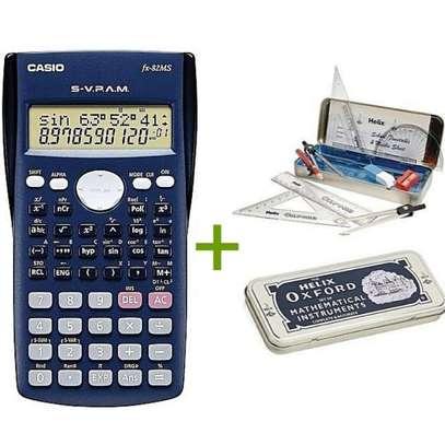 Casio Scientific Calculator Fx82ms Plus Free Geometrical Set image 1