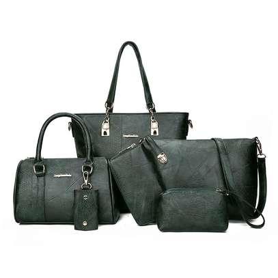 6in1 pu leather handbag