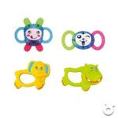 Superior 2 in 1 Dreamful Rotate baby Bed Ring & Animals Rattles Toys Set and shakers image 4