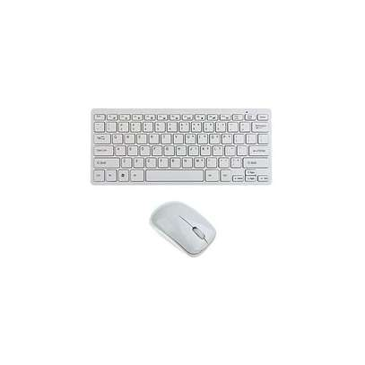 Wireless Keyboard Mouse Combo 2.4G for Windows XP /7/8/10 Android TV Box Laptop Desktop - White image 1