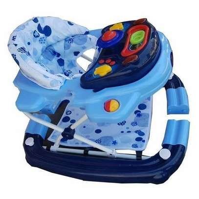2 in 1 Baby Walker/Rocker - Blue & white