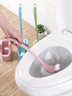 2 sided toilet brush + holder image 2