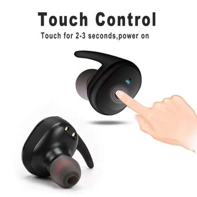 Y30 True Wireless Earbuds Touch-Control Daily Waterproof Sport Earbuds with Microphone Binaural Strereo Audio Earphones In-Ear Headset with Charging Case image 3