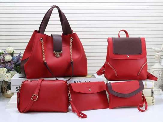 5 in 1 beautiful ladies handbag