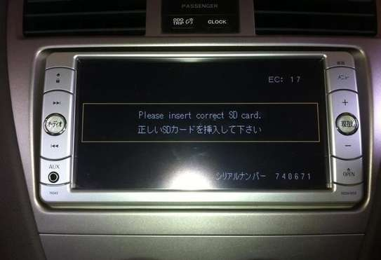 """Please Insert Correct SD Card"" Solution for Ex Japan Car Radio"