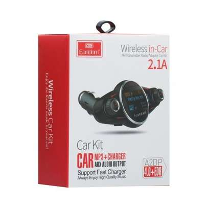 Earldom M30 Car FM Transmitter MP3+Charger+Aux V4.0 Bluetooth Modulator image 2