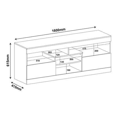 TV Stand Rack ( Texas Rack - Canela ) - Up to 47 Inch TV Space image 5