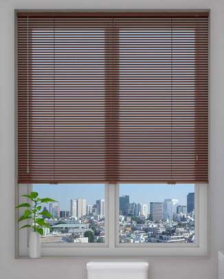office blinds brown image 1
