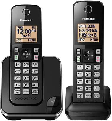 -Handset Cordless Phone for Home with Answering Machine, image 2
