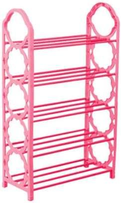 5 tier 15 pairs Foldable portable shoe rack organizer image 2
