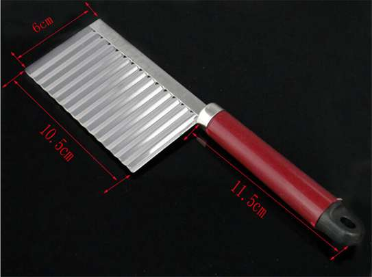 Stainless Steel Vegetable Potato Crinkle Wavy Knife Cutter image 2