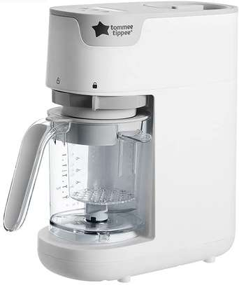 Tommee Tippee Quick Cook Baby Food Steamer and Blender, White image 1