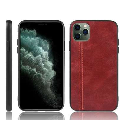 IPhone 11 Pro Max Case Rugged Shield Leather Cover image 2