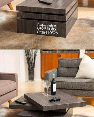 Revolving coffee table/wood coffee table image 1